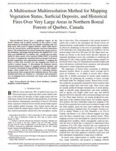 A Multisensor Multiresolution Method for Mapping Vegetation Status, Surficial Deposits, and Historical Fires Over Very Large Areas in Northern Boreal Forests of Quebec